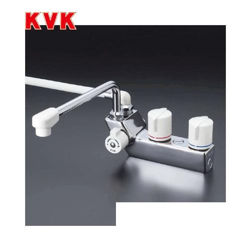 [KF207]KVK 浴室水栓 デッキ形一時止水付2ハンドルシャワー デッキタイプ(台付き) 左側シャワー 【送料無料】 おしゃれ