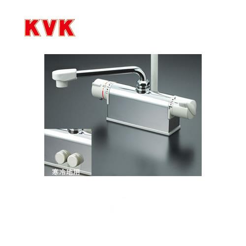 [KF771YTR2]KVK 浴室水栓 シャワー水栓 サーモスタットシャワー金具 デッキ形(台付き) 取付ピッチ120mmタイプ 逆止弁 240mmパイプ付 蛇口 【送料無料】 デッキタイプ おしゃれ