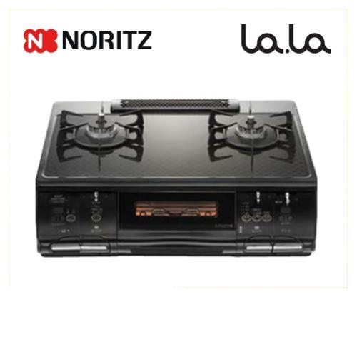 [NLW2273TS-L-13A]【都市ガス 大バーナー左】 ノーリツ ガステーブル LA.LA(ララ) 無水両面焼きグリル 幅60cm (ブラックチェックベールガラストップ/ブラックフェイス) 【送料無料】