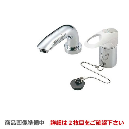 [TL834EGRZ] TOTO 洗面水栓 デリシアシリーズ ツーホールタイプ(コンビネーション水栓) デッキタイプからの取替専用品 スパウト長さ120mm 台付シングル混合水栓(ホース付きタイプ) 寒冷地用※こちらの商品の取付工事は現在行っておりません