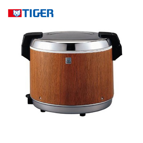 [JHA-5400-MO] タイガー 業務用厨房機器 業務用電子ジャー 炊きたて ダブルヒーター方式 3升 100V 保温専用 通電ランプつき 木目 【送料無料】