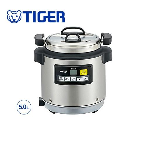 [JHI-N050-XS] タイガー 業務用厨房機器 マイコンスープジャー 乾式保温方式 5.0L IH、直火対応 ステンレス 【送料無料】