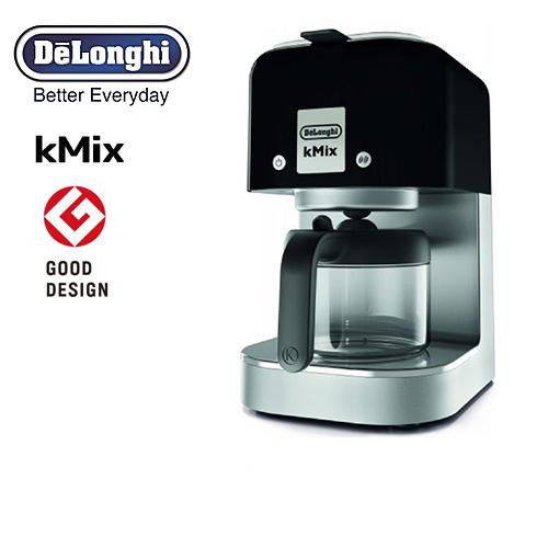 [COX750J-BK] デロンギ コーヒーメーカー kMix ケーミックス ドリップコーヒーメーカー 抽出杯数:1~6杯 (125mL×6杯) ステンレスフィルター リッチブラック 【送料無料】