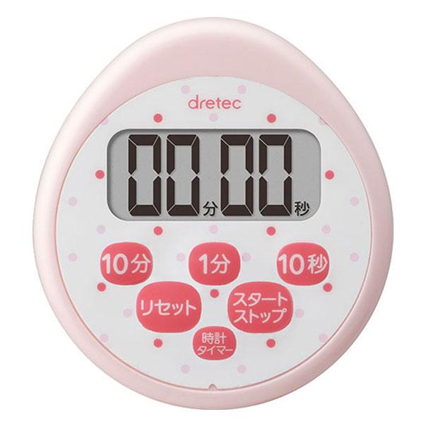 メール便対応 ドリテック ☆国内最安値に挑戦☆ 美品 時計付防水タイマー 品番:T-565PK ピンク