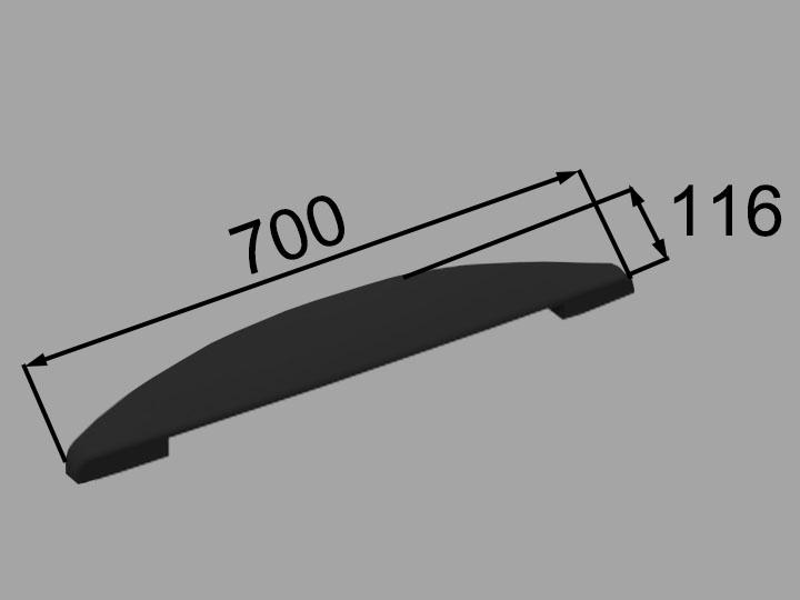 LIXIL 注目ブランド INAX 卓出 ヘッドレスト 品番:YCH-7B K ブラック
