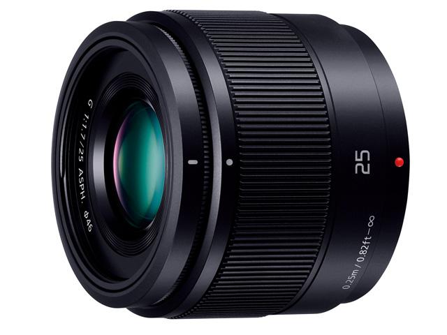 パナソニック デジタル一眼カメラ用交換レンズ(単焦点レンズ:ブラック) 【品番:H-H025-K】