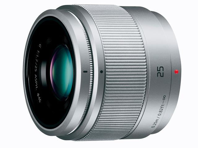 パナソニック デジタル一眼カメラ用交換レンズ(単焦点レンズ:シルバー) 【品番:H-H025-S】