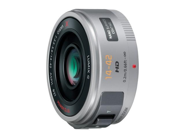 パナソニック デジタル一眼カメラ用交換レンズ(標準ズームレンズ:シルバー) 【品番:H-PS14042-S】