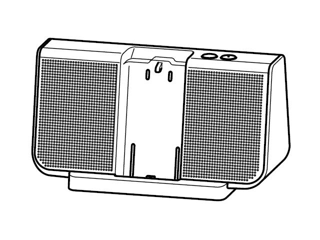 パナソニック スピーカークレードル(白) 【品番:RFE0232】
