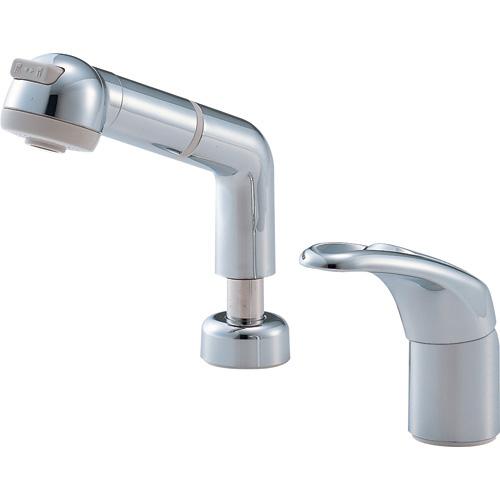 三栄水栓 シングルスプレー混合栓(洗髪用) 一般地用 【品番:K3761JV-C-13】
