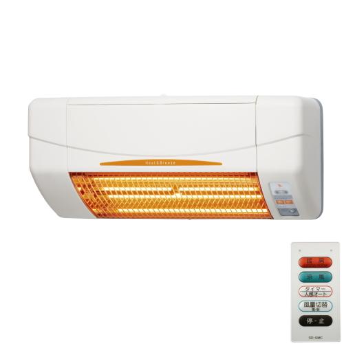 高須産業 涼風暖房機(脱衣室・トイレ・小部屋モデル) 【品番:SDG-1200GSM】