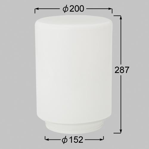 LIXIL(TOEX) GK-1型用 ガラスグローブ 白(シロ) 【品番:LYT01000A】