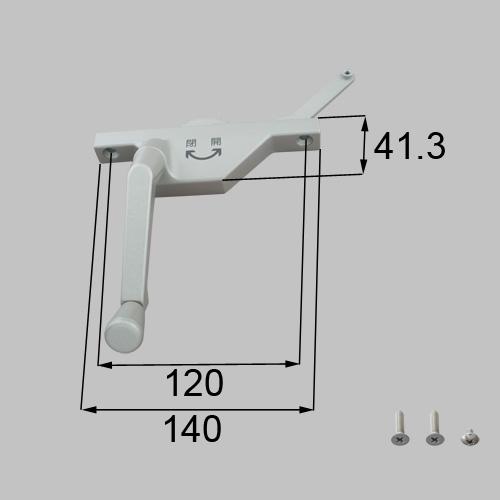 LIXIL(トステム) オペレーター部品セット(左用) シャイングレー 【品番:YRPD422L】