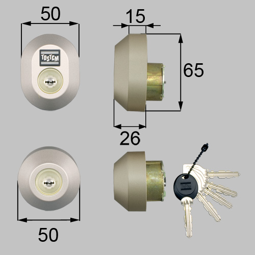LIXIL トステム ドア錠セット 注文後の変更キャンセル返品 高品質新品 MIWA シャイングレー 品番:DRZZ1004 楕円 URシリンダー