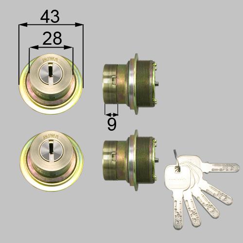 LIXIL(トステム) ドア錠セット(MIWA JNシリンダー)内筒のみ ブラウン 【品番:DCZZ1026】