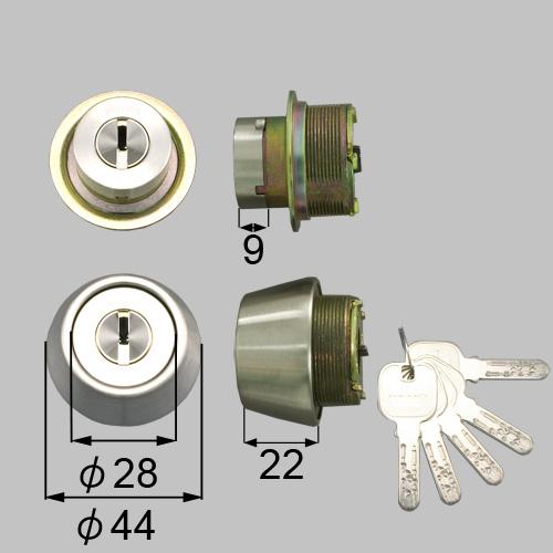 LIXIL(トステム) ドア錠セット(MIWA JNシリンダー)内筒のみ シルバー 【品番:DCZZ1028】