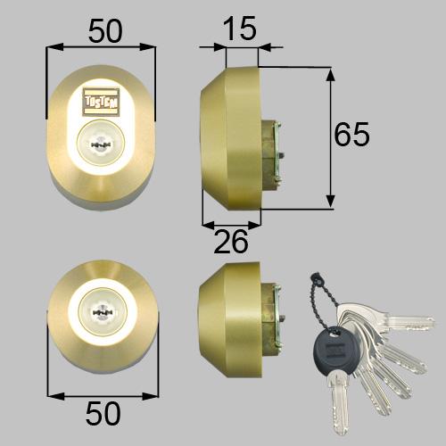 LIXIL(トステム) ドア錠セット(MIWA DNシリンダー)楕円 ゴールド ゴールド【品番:DDZZ3003】, 日コン:b9cb7e90 --- sunward.msk.ru