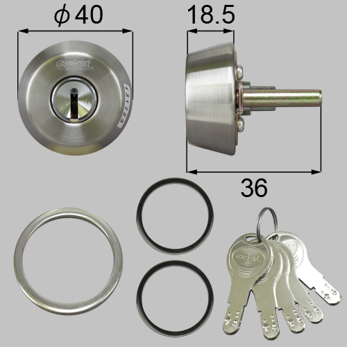 LIXIL(トステム) ドア錠セット(GOAL D9シリンダー) ヘアーライン 【品番:DCZZ3302】