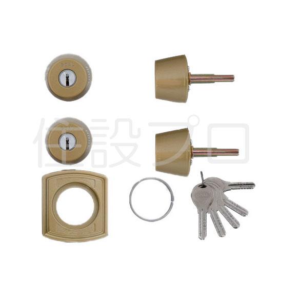 LIXIL(トステム) ドア錠セット(GOAL V18シリンダー) ゴールド 【品番:DCZZ1405】
