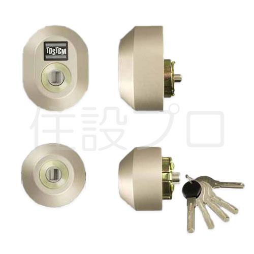 LIXIL(トステム) ドア錠セット(ユーシン Wシリンダー) シャイングレー 【品番:Z-2A2-DDTC】