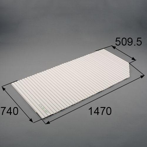 LIXIL(トステム) 浴槽巻きフタ(右用) ホワイト 【品番:RGFZ113】●
