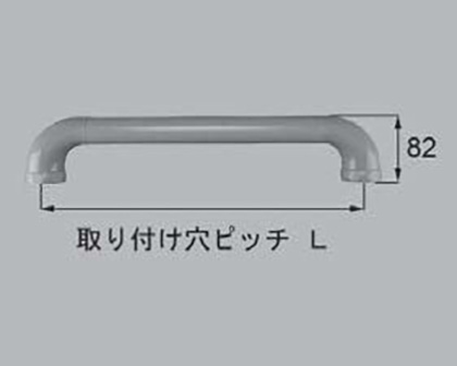 LIXIL(トステム) ニギリバー(ココアグレー) 【品番:QRD552600】