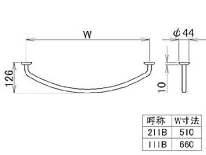 LIXIL(トステム) タオルバー Sタイプ用W750 【品番:KALAA111】