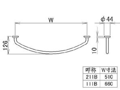 LIXIL(トステム) タオルバー Sタイプ用W600 【品番:KALAA211】