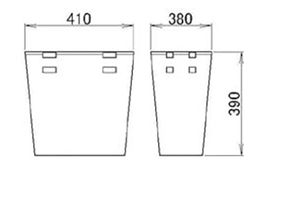 LIXIL(トステム) ランドリーバスケットW450用 【品番:KAAJQZZ4200】