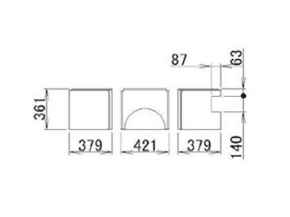 LIXIL(トステム) 浴槽エプロン1216(R) 【品番:RFDG012】