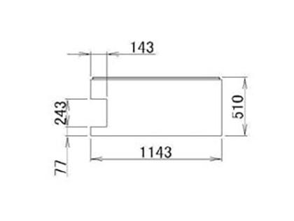 LIXIL(トステム) 浴槽エプロン12**(L) 【品番:RFDG633】