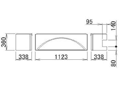 LIXIL(トステム) 浴槽エプロン1818(R) 【品番:RMFV501】