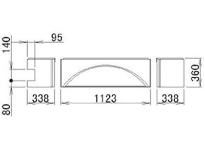 LIXIL(トステム) 浴槽エプロン1818(L) 【品番:RMFT502】