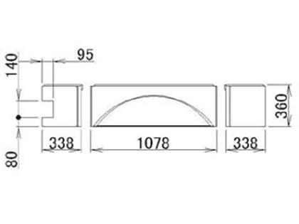 LIXIL(トステム) 浴槽エプロン1717(L) 【品番:RMFS702】