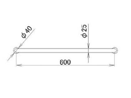 LIXIL(トステム) 金属製ニギリバーI型600 【品番:RAFZ411】