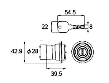 LIXIL 限定特価 トステム シリンダーセット 35%OFF 1ロック取替用 MIWA JNシリーズ シルバー 品番:DCZZ3010