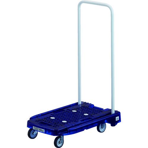 トラスコ中山(TRUSCO) 樹脂台車 アクロキャリー PC製 省音車輪 600×390 ブルー透明 【品番:AC-1PC-B】