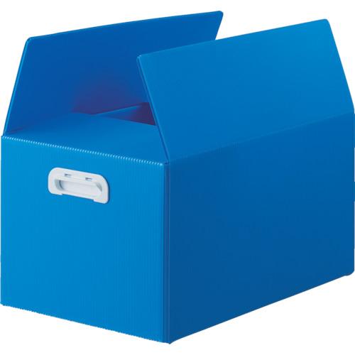 トラスコ中山(TRUSCO) ダンボールプラスチックケース 5枚セット 果物箱サイズ 取っ手穴なし ブルー 【品番:TDP-KMD-5B】