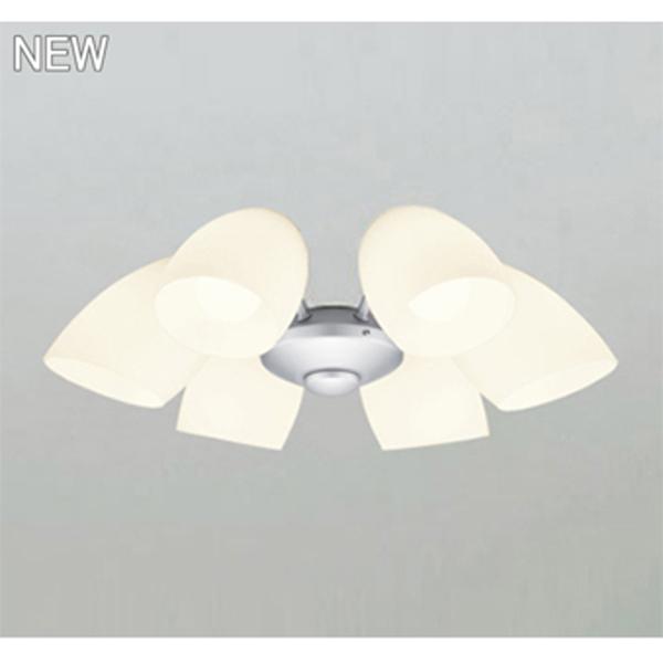 【WF807LC1】オーデリック シーリングファン LED電球一般形 灯具 乳白ケシガラス・6灯 【odelic】