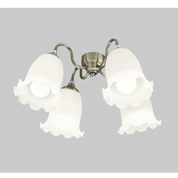 【WF687LC】オーデリック シーリングファン LED電球一般形 灯具 ケシガラスグローブ・4灯 【odelic】