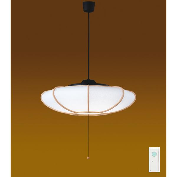 【LEDP81006PW-LD】東芝 和風照明 プルかべリモコン LEDペンダント 単色タイプ 曲水 昼白色 ~8畳 【toshiba】