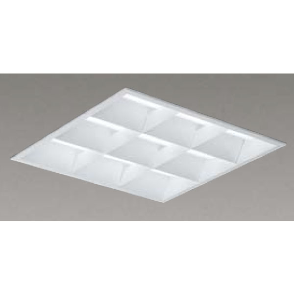 【LEKR741652W-LD9】東芝 LEDベースライト TENQOOスクエア LEDバータイプ 埋込形 バッフルタイプ下面開放タイプ 埋込形□450 色温度4000K