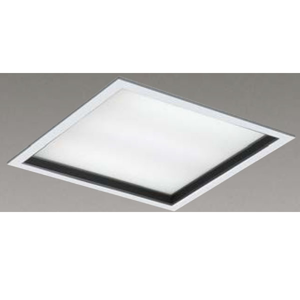 【LEKR760901KW-LD9】東芝 LEDベースライト TENQOOスクエア パネルタイプ 深枠(黒)パネル 埋込形□600 色温度4000K Ra83 FHP45 形×3