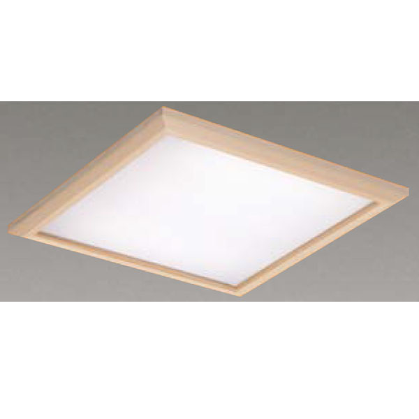 【LEKR760901JL-LD9】東芝 LEDベースライト TENQOOスクエア パネルタイプ 和風乳白パネル 埋込形□600 色温度3000K Ra83 FHP45 形×3