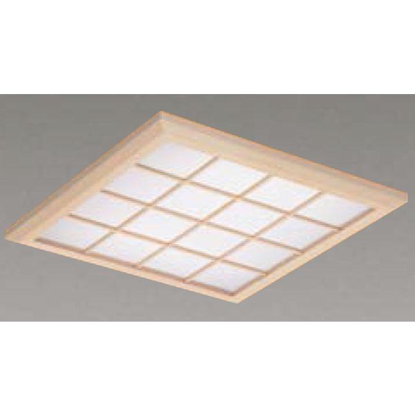 【LEKR745851XL-LD9】東芝 LEDベースライト TENQOOスクエア パネルタイプ 和風格子パネル 埋込形□450 色温度3000K Ra83 FHP32 形×4