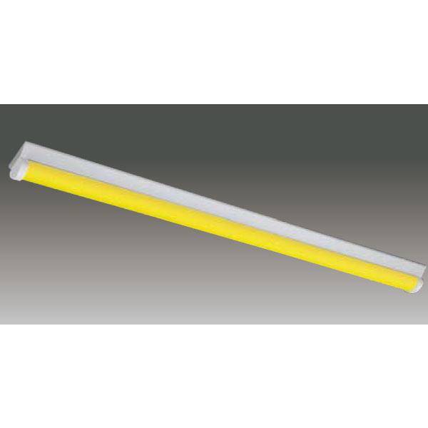 【LEET-41201W-LS9+LEEM-40403Y-WP】東芝 工場・衛生環境用器具 イエロー光 LEDバータイプ 40タイプ 直付形 W120 光色:黄色 【TOSHIBA】