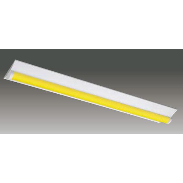 【LEET-42301W-LS9+LEEM-40403Y-WP】東芝 工場・衛生環境用器具 イエロー光 LEDバータイプ 40タイプ 直付形 W230 光色:黄色 【TOSHIBA】