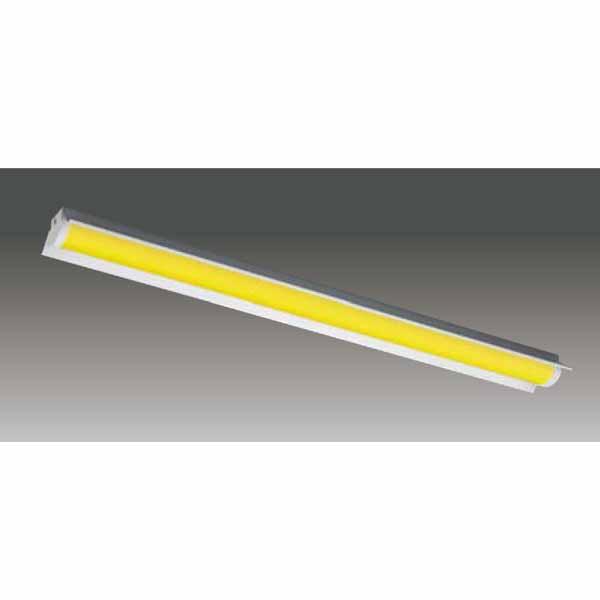 【LEET-41501W-LS9+LEEM-40403Y-WP】東芝 工場・衛生環境用器具 イエロー光 LEDバータイプ 40タイプ 直付形 反射笠 光色:黄色
