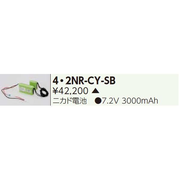 【4・2NR-CY-SB】東芝 誘導灯・非常用照明器具 交換電池 【TOSHIBA】