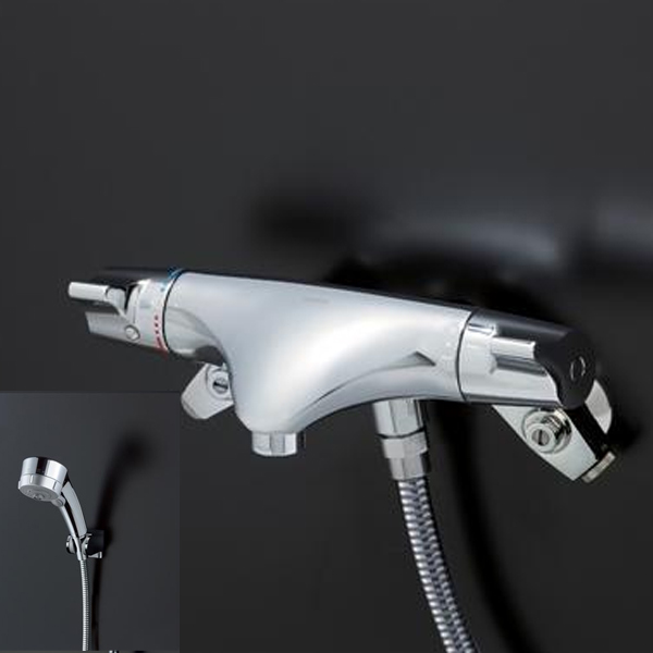 【TMNW40JGRZ】TOTO 壁付サーモスタット混合水栓 ワンダービートクリックめっき ニューウエーブシリーズ 寒冷地用 【トートー】